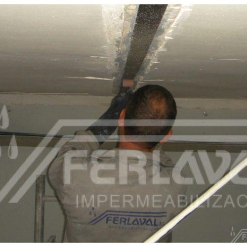 Instalación de refuerzo en techo